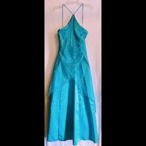 Aqua Blue Juniors Homecoming/Prom Dress Size 11/12
